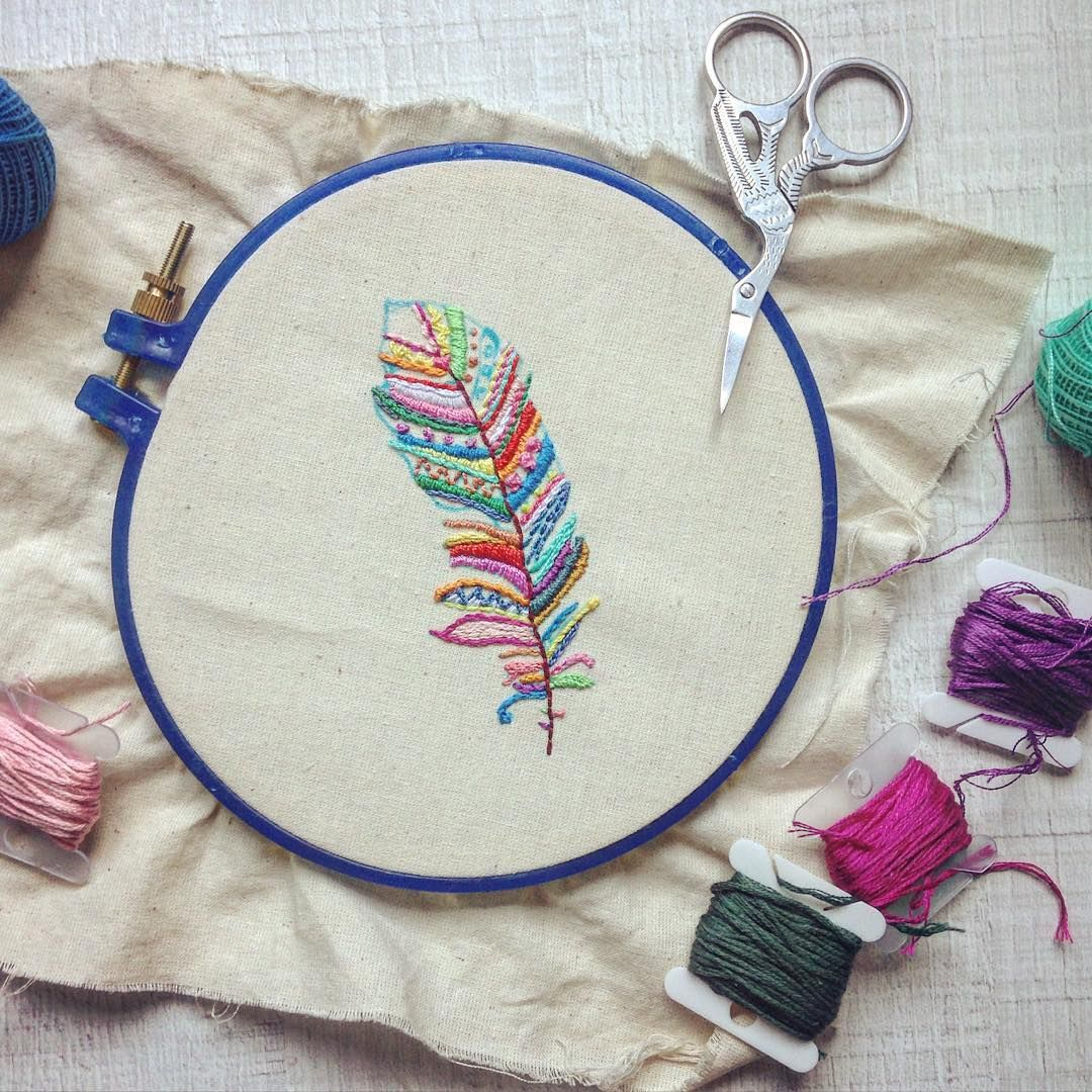embroidery stitches for wool applique book