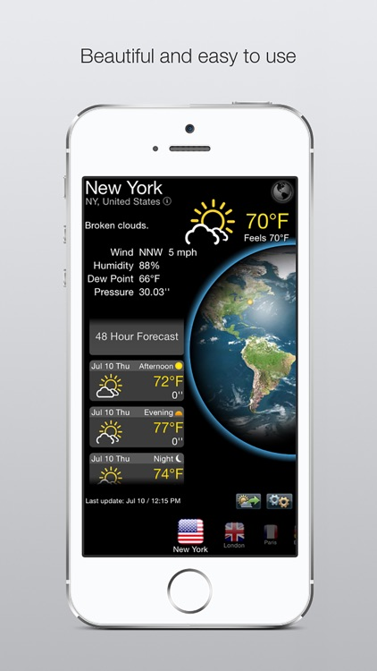 weather update application for desktop