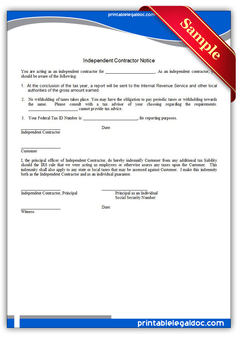 job application for independent contractor