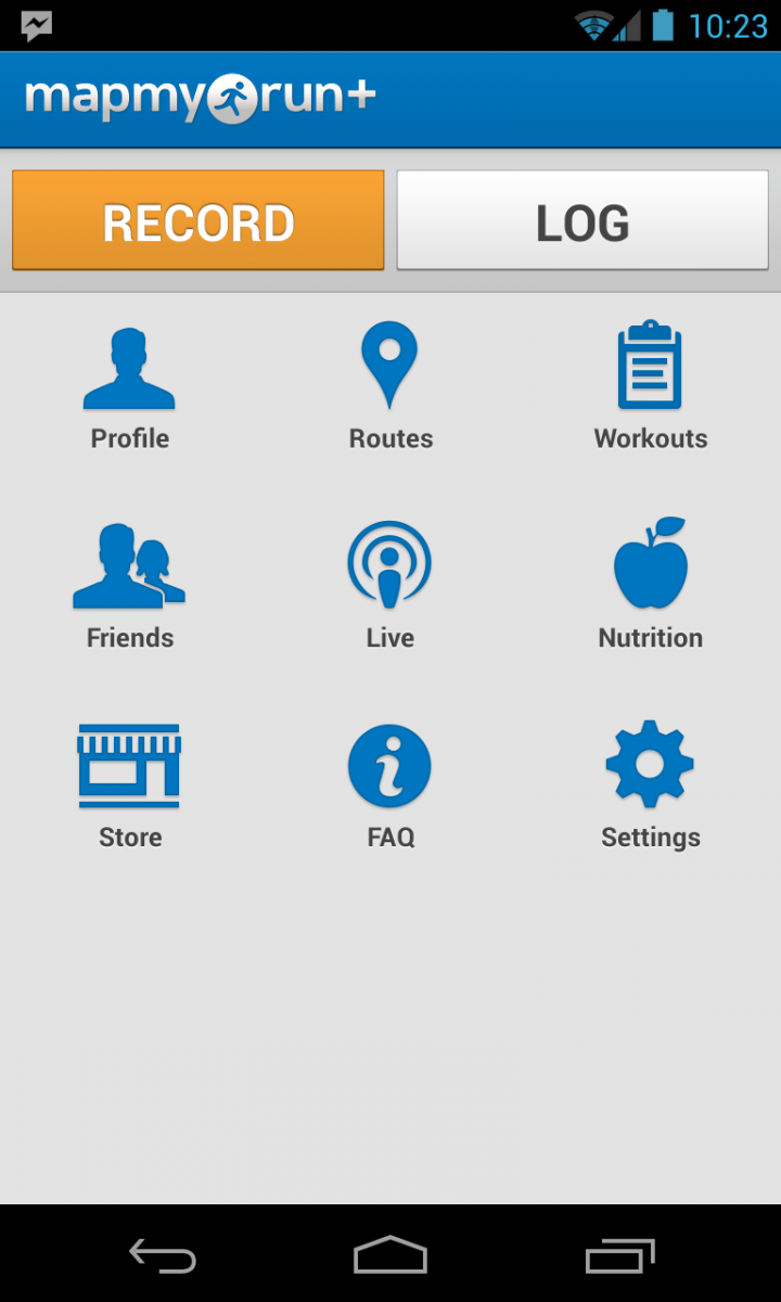 start the yoyuo runner application on android device