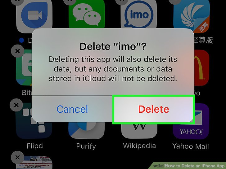 how to uninstall an application on my i phone