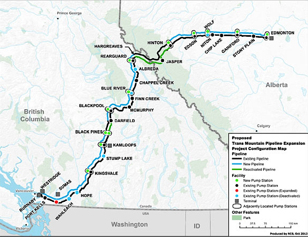 trans mountain pipeline expansion application