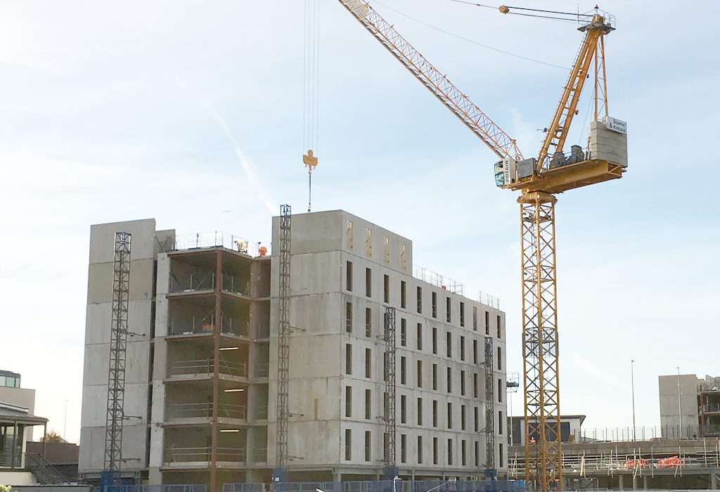 application of prestressed concrete in construction
