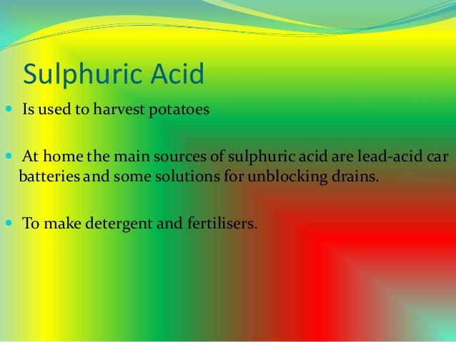 applications of acids in daily life