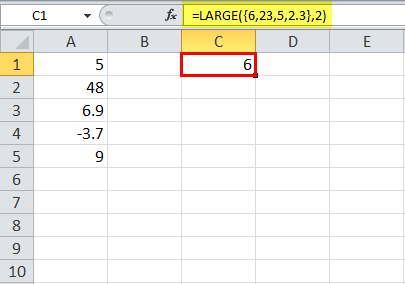 example 3 getting values from application