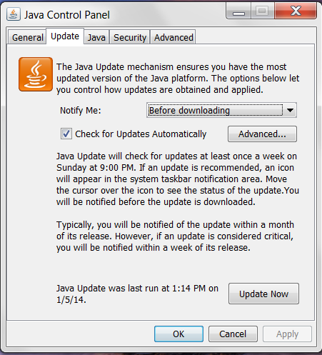 java 7 unable to launch application windows 10